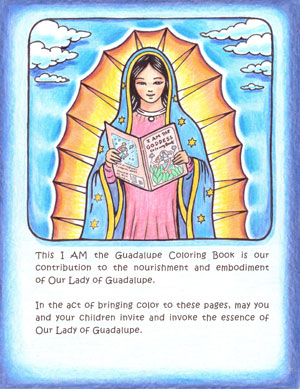 Back cover of I AM the Guadalupe Coloring Book